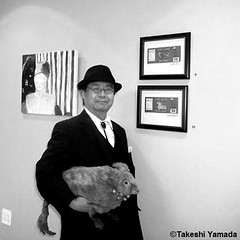 Dr. Takeshi Yamada and Seara (sea rabbit) at the Berkeley College on the occasion of their group fine art exhibition there in Brooklyn, NY on September 16, 2014.  20140916 026- 028===C3=BW. Berkeley College. (searabbits23) Tags: ny newyork sexy celebrity art hat fashion animal brooklyn painting asian coneyisland japanese star tv google king artist dragon god manhattan wildlife famous gothic goth performance pop taxidermy vogue cnn tuxedo bikini tophat unitednations playboy entertainer takeshi samurai genius mermaid amc johnnydepp mardigras salvadordali unicorn billclinton billgates aol vangogh curiosities sideshow jeffkoons globalwarming takashimurakami pablopicasso steampunk yamada damienhirst cryptozoology freakshow barackobama charliesheen seara immortalized takeshiyamada museumofworldwonders roguetaxidermy searabbit ladygaga climategate minnesotaassociationofroguetaxidermists