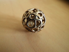 My First Metallic 3D Print (fdecomite) Tags: metal print 3d jewelry math povray hamiltonian shapeways