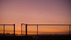 Mt Eliza, early morning, May 2015 (Hayden Charles) Tags: morning colour sunrise canon fence landscape football gate footballfield footy afl goalposts lseries 2470 5dmkiii 5dmk3 haydencharles haydencharlesphotography haydencharlescomau