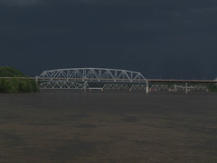 Mark Twain Memorial Bridge and storm -- Hannibal MO (podicep) Tags: mississippiriver thunderstorm hannibalmissouri marktwainmemorialbridge