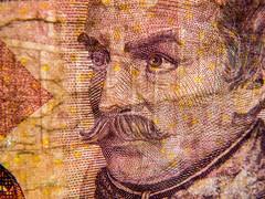 Croatian 20 Kuna (tubblesnap) Tags: up closeup see elizabeth close bank queen note adobe british through 20 currency kuna croatian lightroom fiver 5
