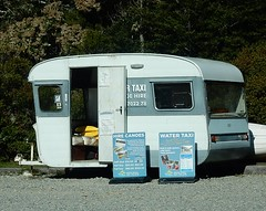 Caravan Office (mikecogh) Tags: signs office canoes caravan simple hire watertaxis starnaud