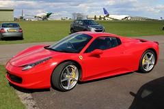 Ferrari 458-Spider (Shaun Grist) Tags: red spider airport aircraft aviation ferrari airline aeroplanes fastcar kemble 458 avgeek