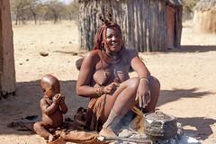 Himba - Namibia (wietsej) Tags: child sony mother namibia 70200 himba a900 sal70200g