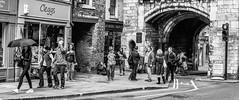 Walking by on a busy afternoon. (steve.gombocz) Tags: street york people bw walking blackwhite noiretblanc zwartwit yorkshire streetphotography olympus blacknwhite greyscale bwphoto noirblanc whiteblack negroyblanco negroblanco neroebianco schwartzweiss olympuscamera sortoghvid svartochvitt schwartzundweiss svartoghvitt flickrstreet flickrblackandwhite olympusm25mmf18 olympusem5mark2