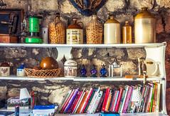 Paraphernalia (Daniela 59) Tags: southafrica bottles books things bistro shelf stuff westerncape overberg gansbaai paraphernalia danielaruppel tolbosbistro