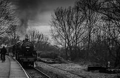 Grim (Paul GF3) Tags: railroad england train outdoors crab railway lancashire locomotive elr steamengine lms eastlancashirerailway londonmidlandscottish summerseat
