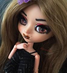 ~Glamour Girl~ (Alilovesdolls) Tags: brown black make eyes it wig mio pullip kit custom own obitsu 27cm