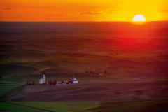 Steptoe Butte, Washington (EdBob) Tags: steptoe steptoebutte steptoebuttestatepark palouse sunset sun easternwashington washington washingtonstate washingtonstatetourism landscape fields agriculture agricultural destination nopeople wheat rural nonurban aerialview clouds edmundlowephotography edmundlowe horizon orange green usa america allmyphotographsare©copyrightedandallrightsreservednoneofthesephotosmaybereproducedandorusedinanyformofpublicationprintortheinternetwithoutmywrittenpermission wwwedmundlowephotocom