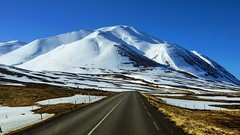 memo from a road back to winter (lunaryuna) Tags: road travel light snow mountains ice weather season landscape iceland spring roadtrip journey lunaryuna weathermood seasonalwonders