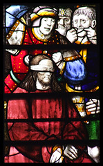 Jesus is mocked (English, 16th Century) (Simon_K) Tags: cambridge college church glass university chapel stainedglass tudor stained kings vitrail cambridgeshire eastanglia 16thcentury vitraux cambs kingss