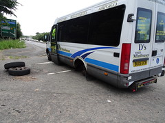 All day long (stevenbrandist) Tags: road bus leicestershire accident leicester failure wheels minibus iveco thewheelsonthebus bu05ucb bu05ubc