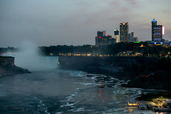 View from the Bridge (Bruce Livingston) Tags: canada night niagarafalls us nightscape falls rainbowbridge niagarariver