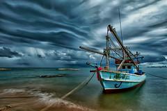 rain is coming... (Alex Dansai) Tags: storm rain thailand ship shore fishingboat platinumheartaward