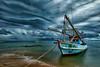 rain is coming... (Alex Dansai) Tags: fishingboat ship shore storm rain thailand platinumheartaward dockbay