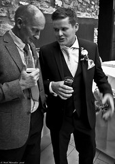Where do the birds and bees fit into all of this? (Neil. Moralee) Tags: uk flowers wedding boy blackandwhite bw white man black men art drunk lumix groom bride dad hole drink fear father grandfather drinking neil panasonic parent reception devon experience wise button nervous advice guest wisdom suite bridegroom enthusiastic nerves balding enthusiasm weddingnight lx7 moralee monomonochrome neilmoralee woodysreceptionneilmoralee2016 receptionolder