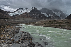 Athabasca Glacier runoff.jpg (Rob Eyers) Tags: canada mountains clouds rockies rocks stream rocky overcast glacier alberta rockymountains greyday runoff icefieldsparkway grayday