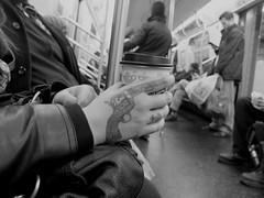 Q TRAIN (manuel.laqui lucky film) Tags: nyc subway gun mta fujifilm x20 qtrain