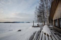 49-Kukkolankoski-06 copy (Beverly Houwing) Tags: snow suomi finland frozen lapland kukkola bungalow kukkolankoski tornioriver