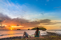 Sunset. (Luis Eduardo Cmara) Tags: life light sunset pordosol sea sun love mar couple day casal fernandodenoronha airfrance noronha
