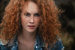 """""""FREE"""" (Samy.Jourdan) Tags: street uk red england color london photoshop canon hair ginger model jean colorfull sigma curly freckles manfrotto freeckles"""