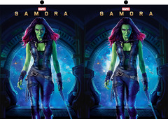 Gamora Stereo 3D (caffeineandpixels) Tags: marvel guardiansofthegalaxy gamora zoesaldana stereo stereoscopic stereography crosseyed 3d threedimensional
