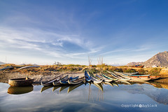 HonThien Lagoon, Phan Rang city, Ninhthuan province, Vietnam (Duy-black) Tags: sea sky countryside boat vietnam getty lanscape cham basketboat phanrangcity bamboobasketboat