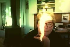 stripe of sunlight (lawatt) Tags: me self computer photobooth