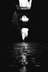 From Darkness Comes Light (dcs.photography) Tags: barcelona street light urban bw white black contrast photography europe bokeh path candid sony 30mm a6000