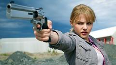Chloe Grace Moretz Holds Revolver HD Wallpaper (StylishHDwallpapers) Tags: action chloe grace actress revolver holds moretz