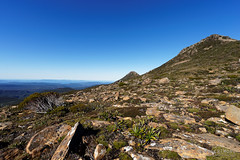 20160424-12-Plateau before Hartz Peak (Roger T Wong) Tags: trek outdoors nationalpark walk australia hike scree tasmania bushwalk tramp 2016 dolerite hartzpeak hartzmountainsnationalpark sony1635 rogertwong sel1635z sonya7ii sonyilce7m2 sonyalpha7ii sonyfe1635mmf4zaosscarlzeissvariotessart