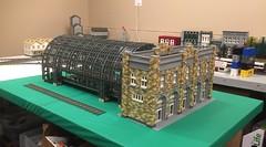New station/canopy orientation - terminus (legosteveb) Tags: layout lego trainstation canopy