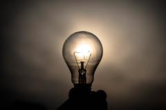 lamp (francesco_if ) Tags: light sunset sky lamp nikon tramonto luce d3 lampadina