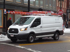 Ford Transit (JLaw45) Tags: road street new england urban usa white ford boston america work state metro massachusetts united north newengland utility business company domestic american commercial transit area vehicle metropolis motor states ladder van mass northeast contractor metropolitan beantown workvan nonimport