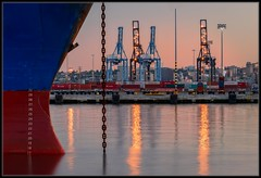 Playing in the Port (Ernie Misner) Tags: industry washington nikon ship nik tacoma bluehour lightroom tacomawashington portoftacoma capturenx2 erniemisner awesometacoma comeenjoythebluehourwithme