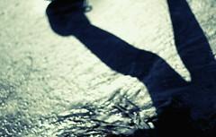 my sentimental journey (N.sino) Tags: shadow beach goodbye     xt1  nokton50mmf11
