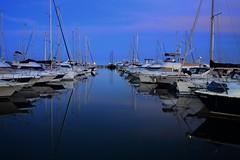 Sleeping with ghosts (gcarabin) Tags: sea night boats harbor