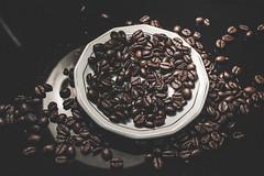 [ c o f f e e - c h a o s ] (chleggiero) Tags: coffee coffeebeans coffeart caff cafe food foodart pornfood taking stilllife still life caffeine dark noir espresso breakfast indoor spot morning