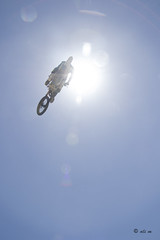 Don't give up-on your dreams as the sky is the limit! (ali_alchemic light) Tags: blue high jump rainbow triangle prism dreams flare motorcycle sunburst limit motorcross sunflare dontgiveup flickerfriday