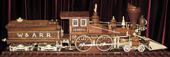 Western & Atlantic Railroad # 3 steam locomotive (The General) - wood & ivory carving (James St. John) Tags: wood railroad ohio museum train carved war general engine ivory trains carving steam atlantic civil western locomotive ebony dover the warther warthers
