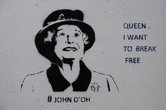 Queen - I want to break free, John D'oh stencil (duncan) Tags: streetart stencil queen shoreditch thequeen johndoh