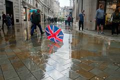 Brolly (jimj0will) Tags: brolly rain rainy wet reflections union greatbritain unitedkingdom unionjack redwhiteandblue umbrella street broken