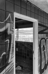 Palms Motel (autobahn66.com) Tags: california blackandwhite abandoned monochrome graffiti desert decay minimal vandalism saltonsea