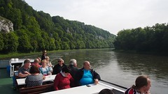 P5270566 (photos-by-sherm) Tags: trees rock river germany boat spring ship tour danube narrows formations
