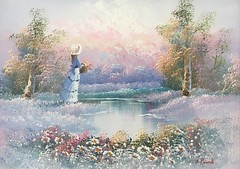 Summer (alanpeacock2) Tags: summer painting flowers trees meadow art