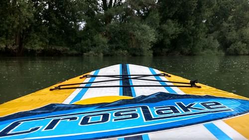 Paddle Board auf dem Ginsheimer Altrhein