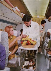 Meal Service On The Convair 880M Jet Courier (SwellMap) Tags: architecture vintage advertising design pc 60s fifties postcard suburbia style kitsch retro nostalgia chrome americana 50s roadside googie populuxe sixties babyboomer consumer coldwar midcentury spaceage atomicage