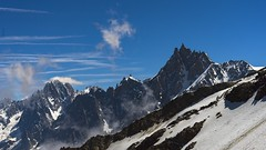 The West face of the Mont-Blanc range. Massif du Mont-Blanc, faces Ouest. (Claude Jenkins) Tags: sky france mountains montagne nikon d750 nuages chamonix montblanc verte alpinisme aiguilles aiguilledumidi hautesavoie nikonflickrtrophy