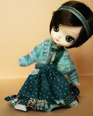 Dal_Delorean_004 (kira_cherkavskaya) Tags: dal delorean doll groove rewiged handmade outfitfordoll polkadot frill blue  blytheoutfit pullipoutfit daloutfit