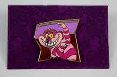 Alice in Wonderland 65th Anniversary Puzzle Mystery Set - Disneyland Purchase - Cheshire Cat - On Backing Card - Front View (drj1828) Tags: us disneyland dlr dl60 pin disneypintrading purchase 2016 limitedrelease aliceinwonderland 65th anniversary puzzle set mystery reveal conceal cheshirecat